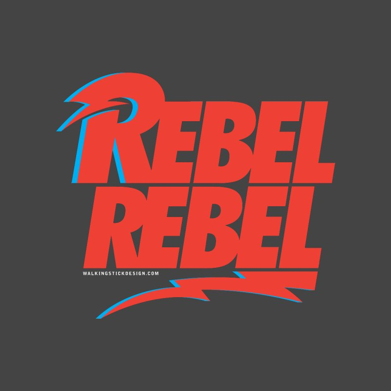 Rebel Rebel Shirt Home Mounted Aluminum Print by walkingstickdesign's Artist Shop