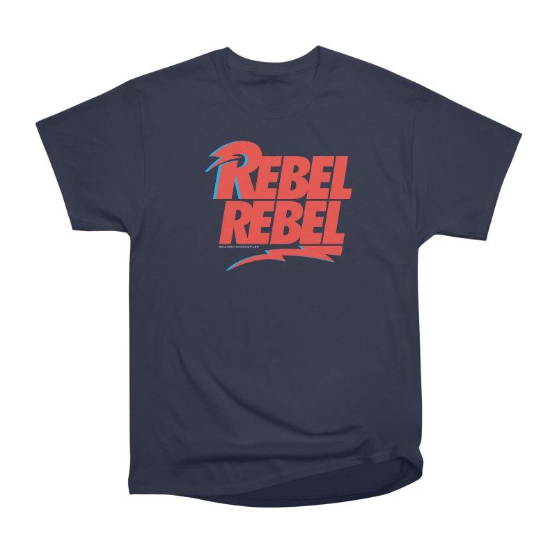 Rebel Rebel Shirt Women's Heavyweight Unisex T-Shirt by walkingstickdesign's Artist Shop