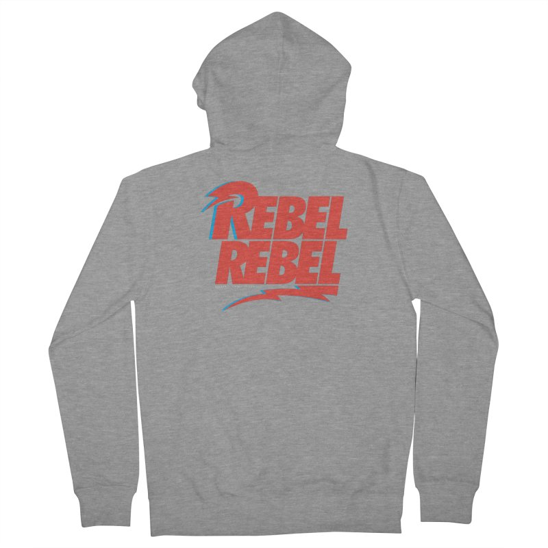 Rebel Rebel Shirt Men's French Terry Zip-Up Hoody by walkingstickdesign's Artist Shop