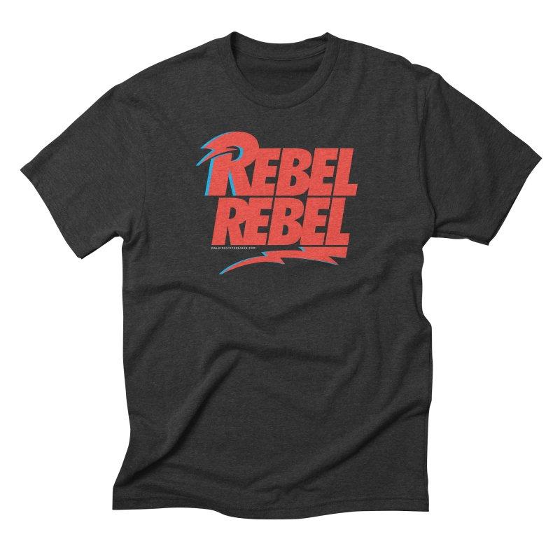 Rebel Rebel Shirt Men's Triblend T-shirt by walkingstickdesign's Artist Shop