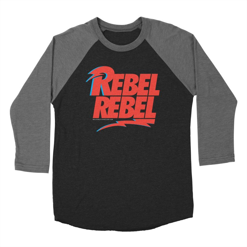 Rebel Rebel Shirt Men's Baseball Triblend Longsleeve T-Shirt by walkingstickdesign's Artist Shop