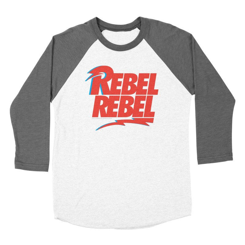 Rebel Rebel Shirt Men's Baseball Triblend T-Shirt by walkingstickdesign's Artist Shop