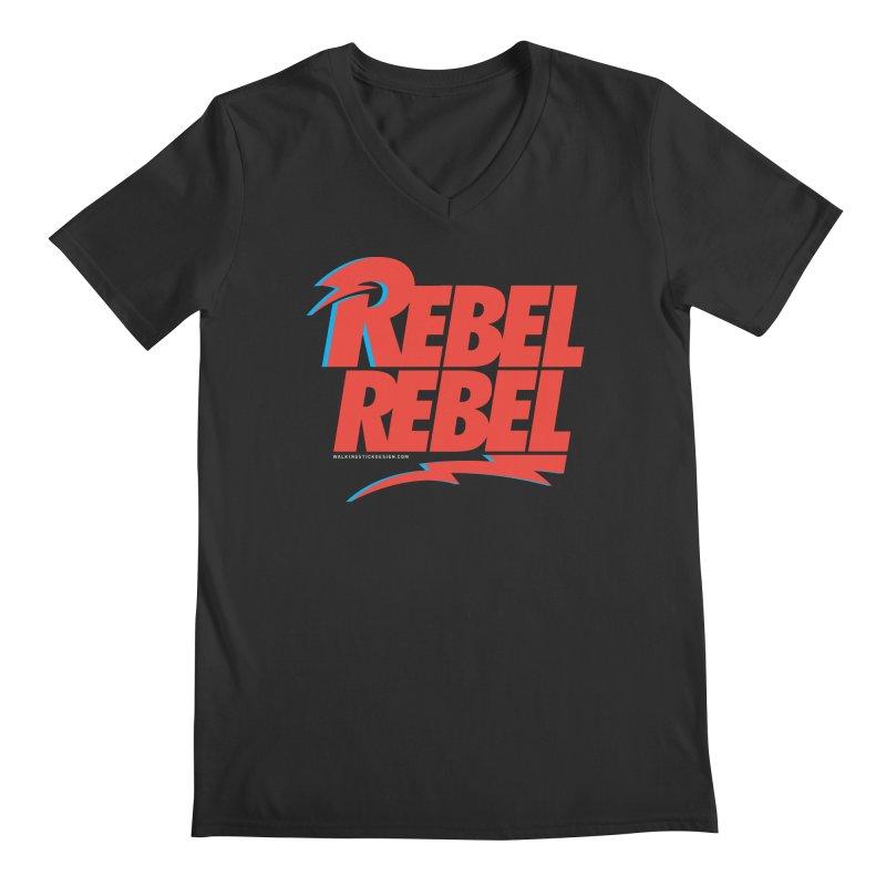 Rebel Rebel Shirt Men's Regular V-Neck by walkingstickdesign's Artist Shop