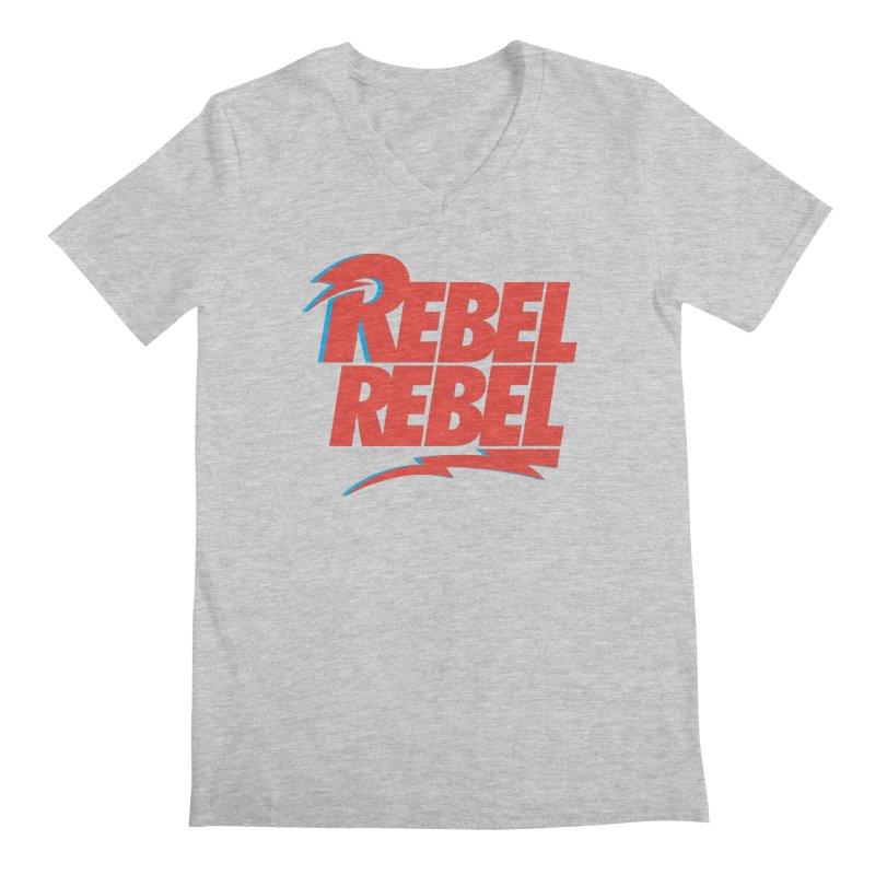 Rebel Rebel Shirt Men's V-Neck by walkingstickdesign's Artist Shop
