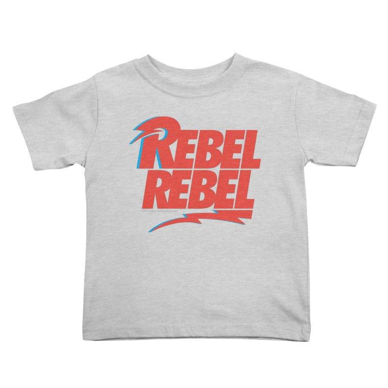 Rebel Rebel Shirt Kids Toddler T-Shirt by walkingstickdesign's Artist Shop