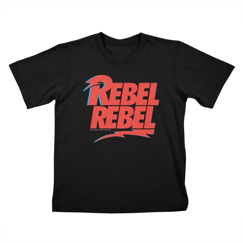Rebel Rebel Shirt Kids T-shirt by walkingstickdesign's Artist Shop