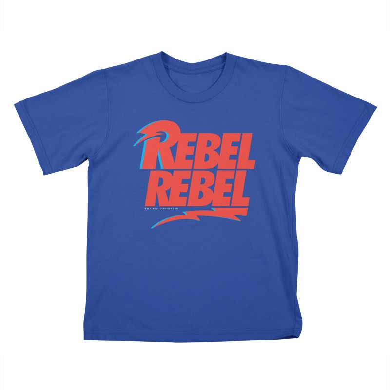 Rebel Rebel Shirt Kids T-Shirt by walkingstickdesign's Artist Shop