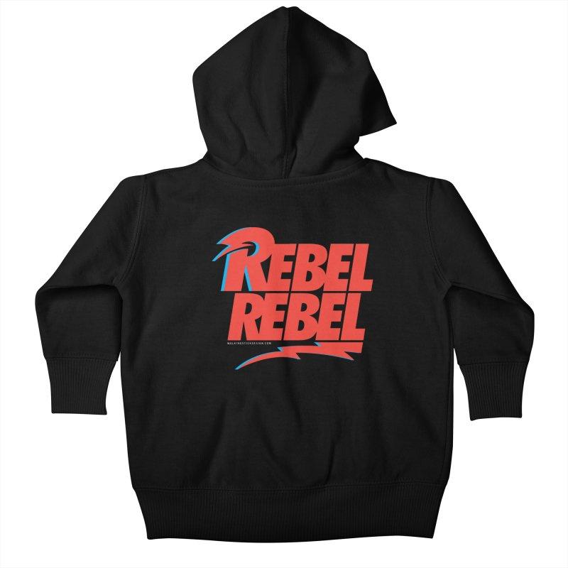 Rebel Rebel Shirt Kids Baby Zip-Up Hoody by walkingstickdesign's Artist Shop