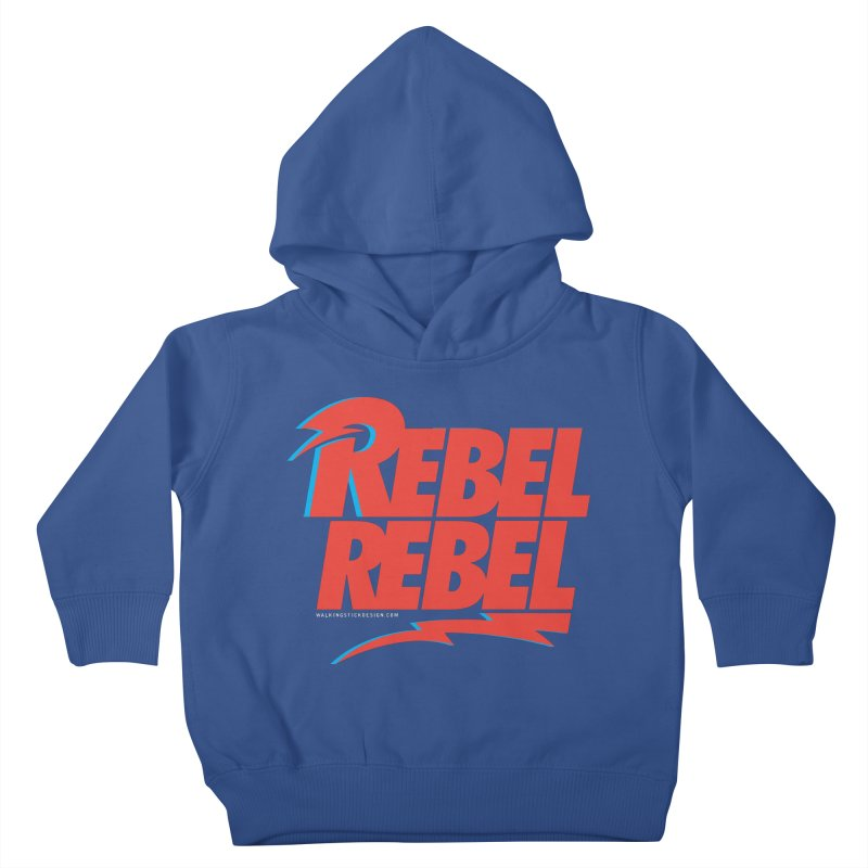 Rebel Rebel Shirt Kids Toddler Pullover Hoody by walkingstickdesign's Artist Shop