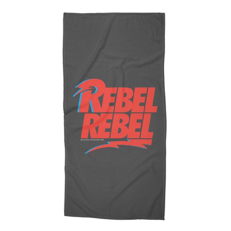 Rebel Rebel Shirt Accessories Beach Towel by walkingstickdesign's Artist Shop
