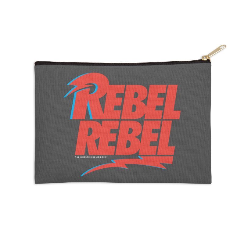 Rebel Rebel Shirt Accessories Zip Pouch by walkingstickdesign's Artist Shop