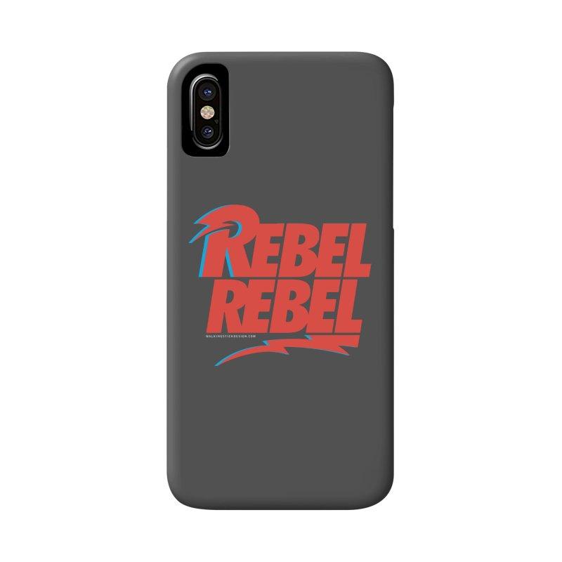 Rebel Rebel Shirt Accessories Phone Case by walkingstickdesign's Artist Shop