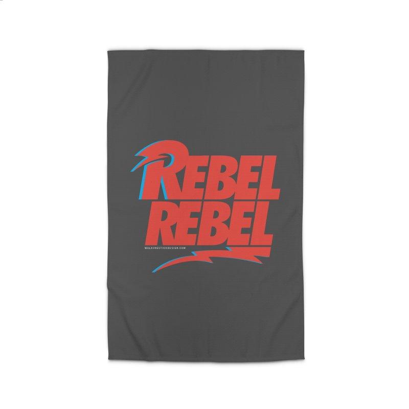 Rebel Rebel Shirt Home Rug by walkingstickdesign's Artist Shop