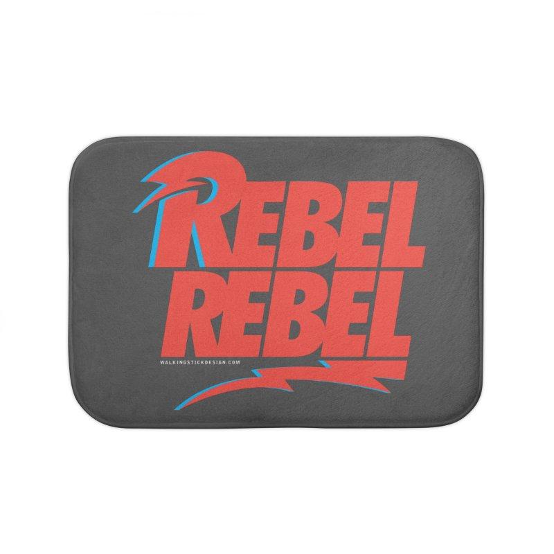Rebel Rebel Shirt Home Bath Mat by walkingstickdesign's Artist Shop
