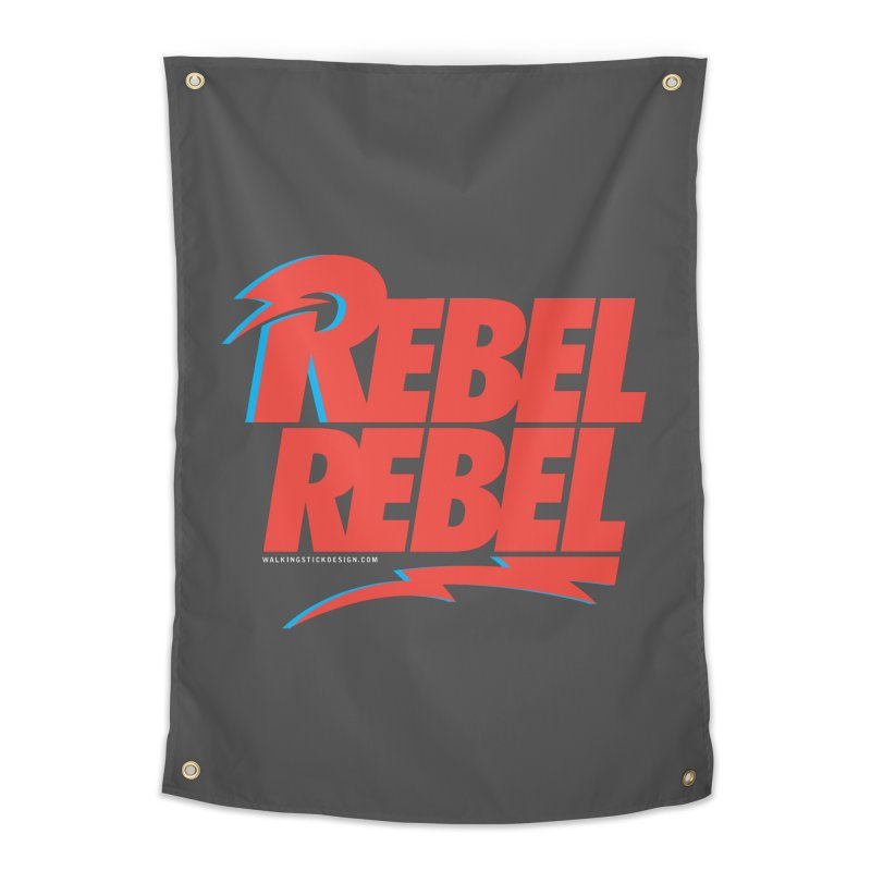 Rebel Rebel Shirt Home Tapestry by walkingstickdesign's Artist Shop