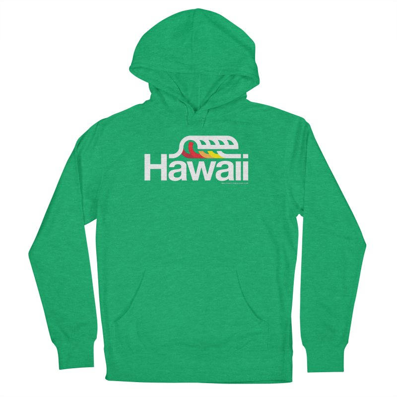 Hawaii Wave Men's French Terry Pullover Hoody by WalkingStick Design's Artist Shop