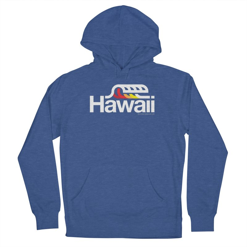 Hawaii Wave Men's French Terry Pullover Hoody by walkingstickdesign's Artist Shop