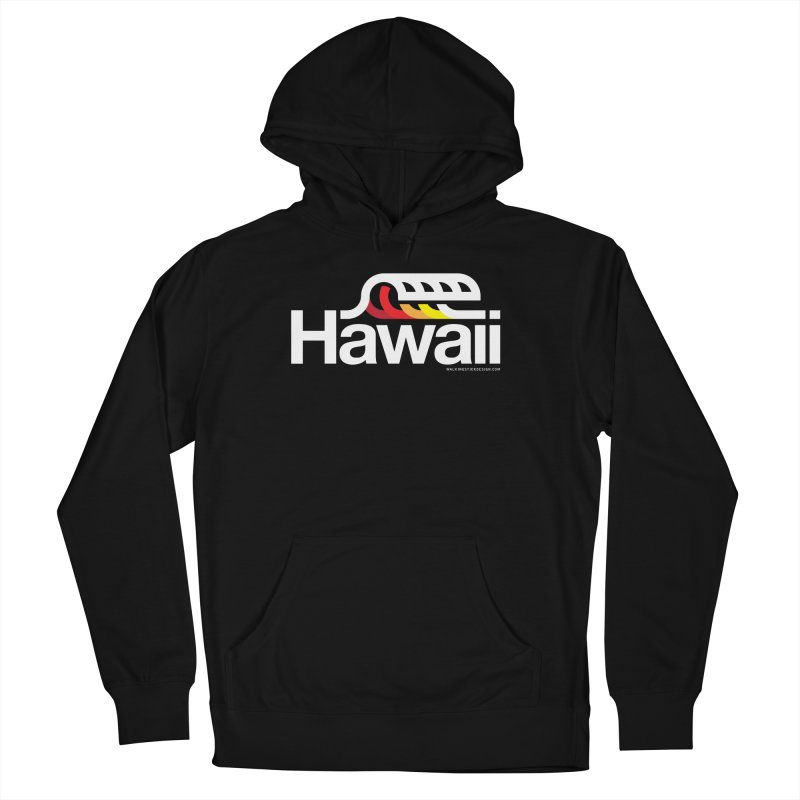 Hawaii Wave Men's Pullover Hoody by walkingstickdesign's Artist Shop