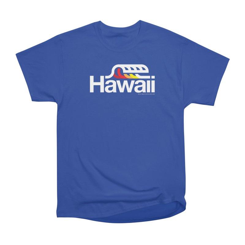 Hawaii Wave Men's Heavyweight T-Shirt by walkingstickdesign's Artist Shop