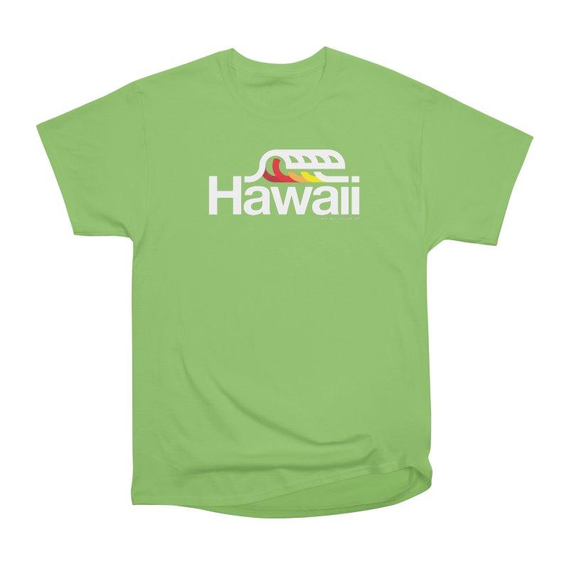 Hawaii Wave Men's Heavyweight T-Shirt by WalkingStick Design's Artist Shop