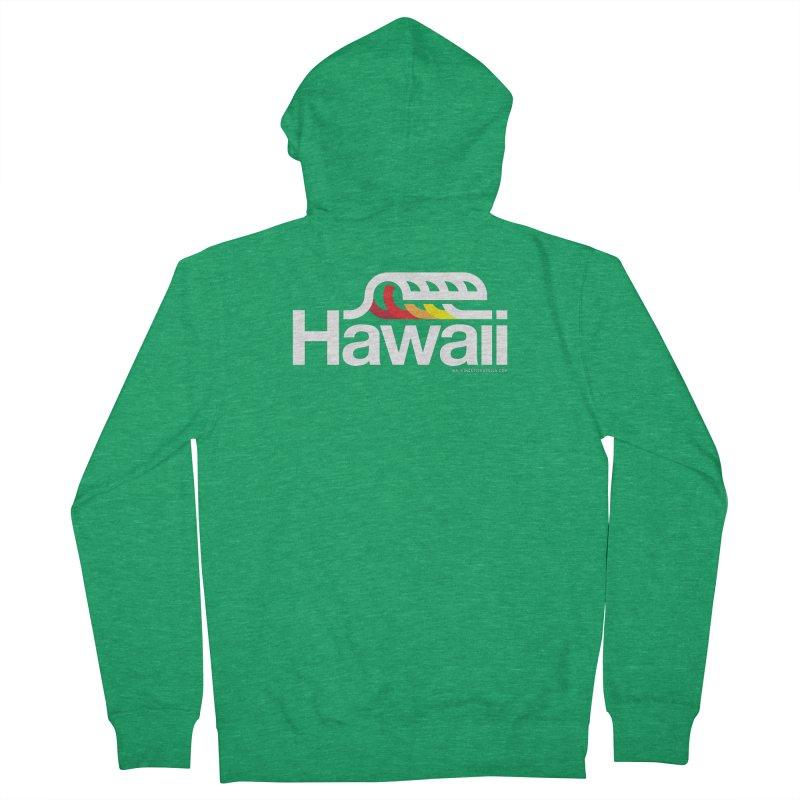 Hawaii Wave Women's French Terry Zip-Up Hoody by WalkingStick Design's Artist Shop