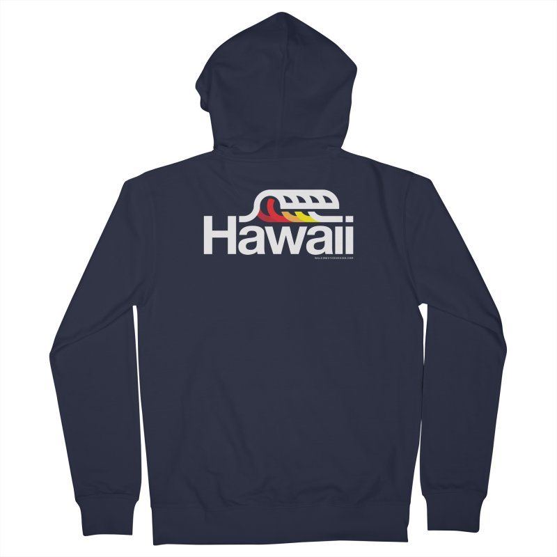 Hawaii Wave Women's French Terry Zip-Up Hoody by WalkingStick Design's Artist Shop