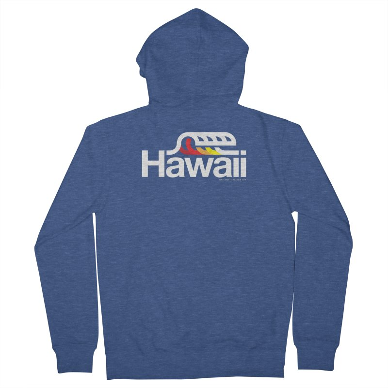 Hawaii Wave Men's French Terry Zip-Up Hoody by walkingstickdesign's Artist Shop