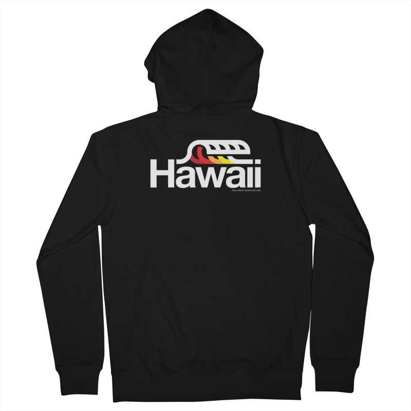 Hawaii Wave Men's French Terry Zip-Up Hoody by WalkingStick Design's Artist Shop