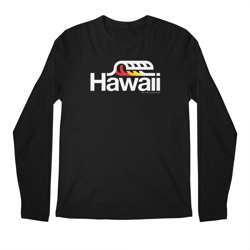 Hawaii Wave Men's Longsleeve T-Shirt by walkingstickdesign's Artist Shop