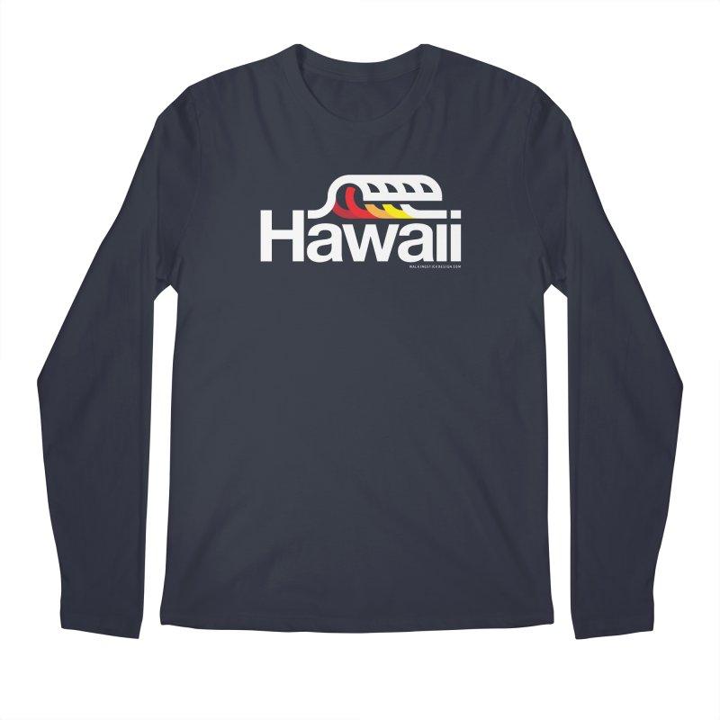 Hawaii Wave Men's Longsleeve T-Shirt by walkingstickdesign's Artist Shop