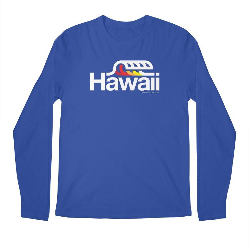 Hawaii Wave Men's Regular Longsleeve T-Shirt by walkingstickdesign's Artist Shop
