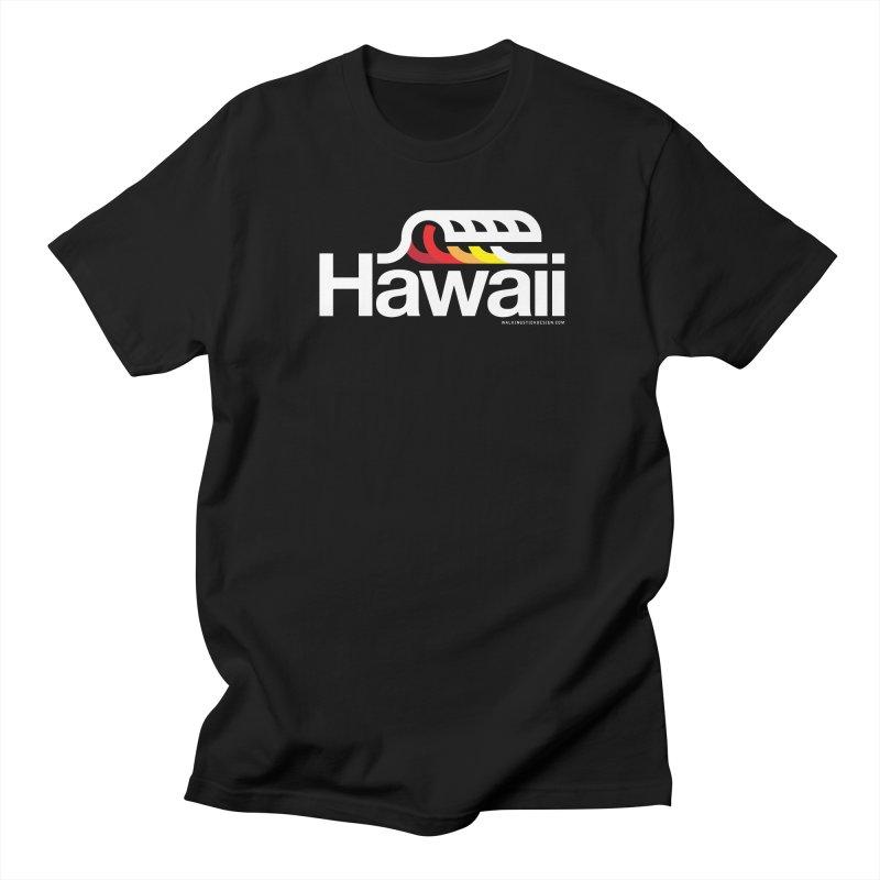 Hawaii Wave Men's Regular T-Shirt by WalkingStick Design's Artist Shop
