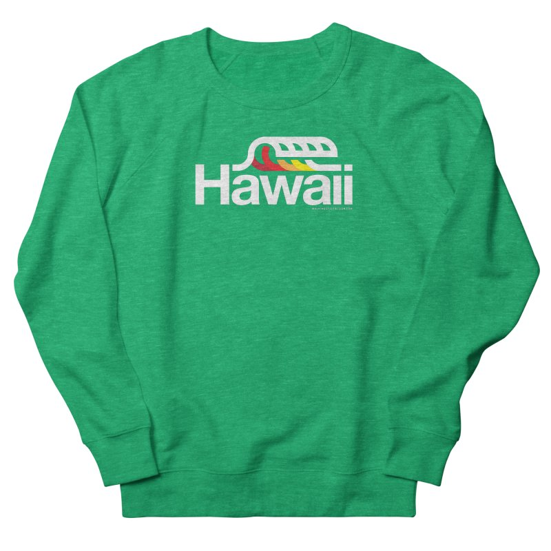 Hawaii Wave Women's French Terry Sweatshirt by WalkingStick Design's Artist Shop