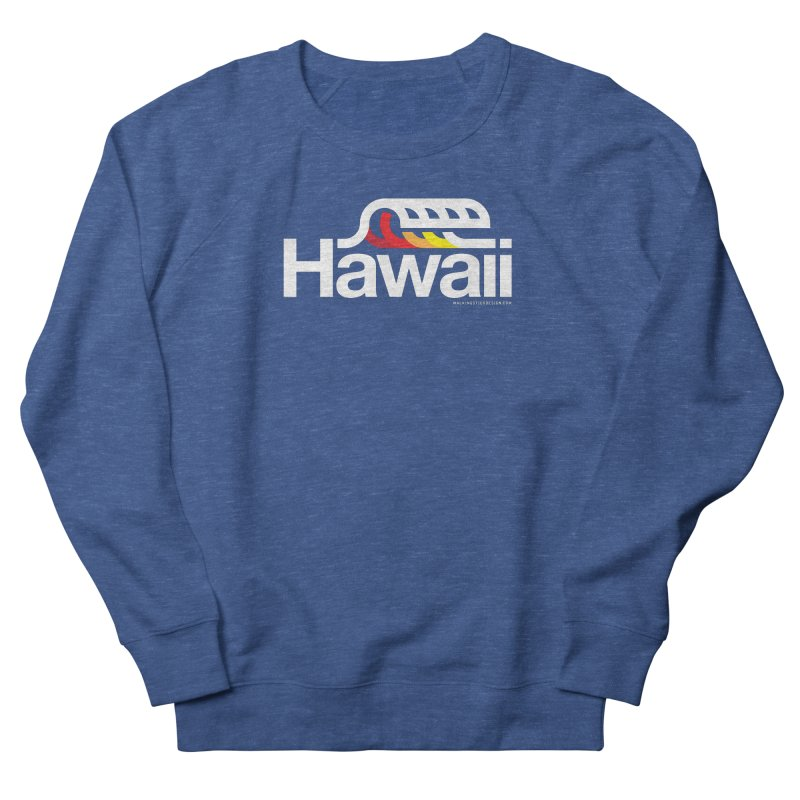 Hawaii Wave Men's French Terry Sweatshirt by WalkingStick Design's Artist Shop