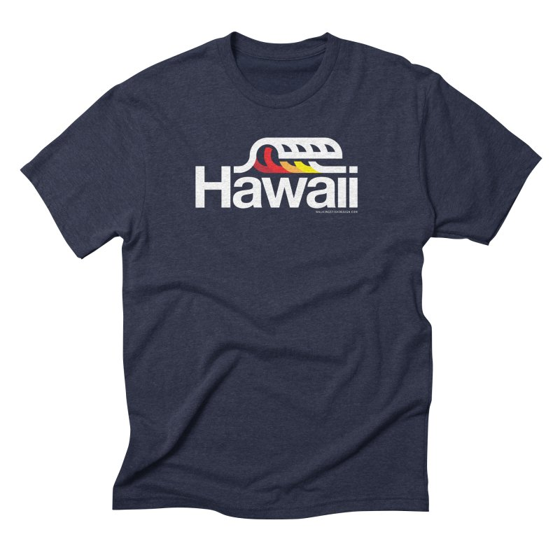 Hawaii Wave Men's Triblend T-Shirt by walkingstickdesign's Artist Shop