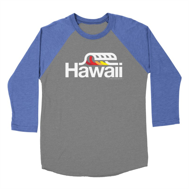Hawaii Wave Men's Baseball Triblend Longsleeve T-Shirt by walkingstickdesign's Artist Shop