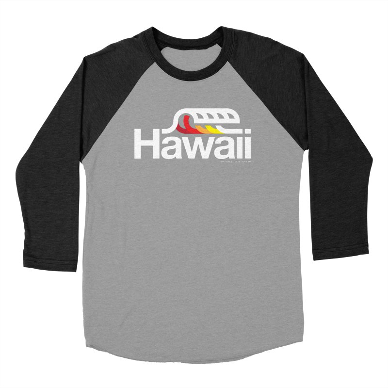 Hawaii Wave Men's Baseball Triblend T-Shirt by walkingstickdesign's Artist Shop