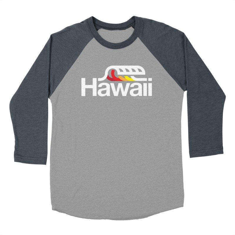 Hawaii Wave Men's Baseball Triblend Longsleeve T-Shirt by walkingstickdesign's Artist Shop