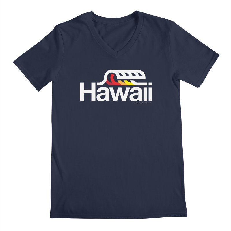 Hawaii Wave Men's Regular V-Neck by WalkingStick Design's Artist Shop