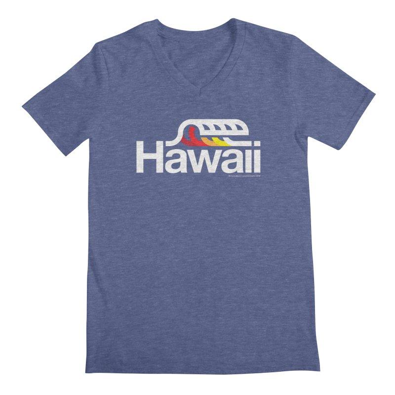 Hawaii Wave Men's V-Neck by walkingstickdesign's Artist Shop