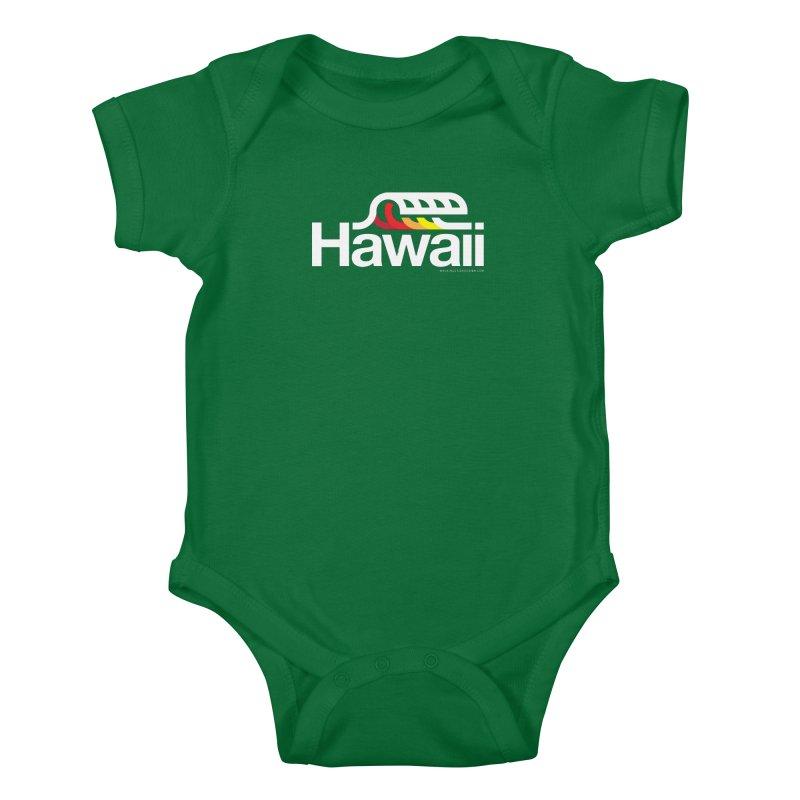 Hawaii Wave Kids Baby Bodysuit by walkingstickdesign's Artist Shop