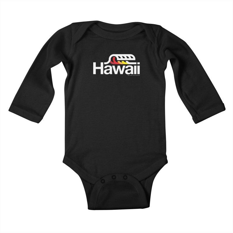 Hawaii Wave Kids Baby Longsleeve Bodysuit by WalkingStick Design's Artist Shop