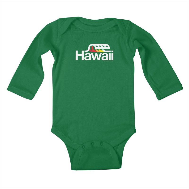 Hawaii Wave Kids Baby Longsleeve Bodysuit by walkingstickdesign's Artist Shop