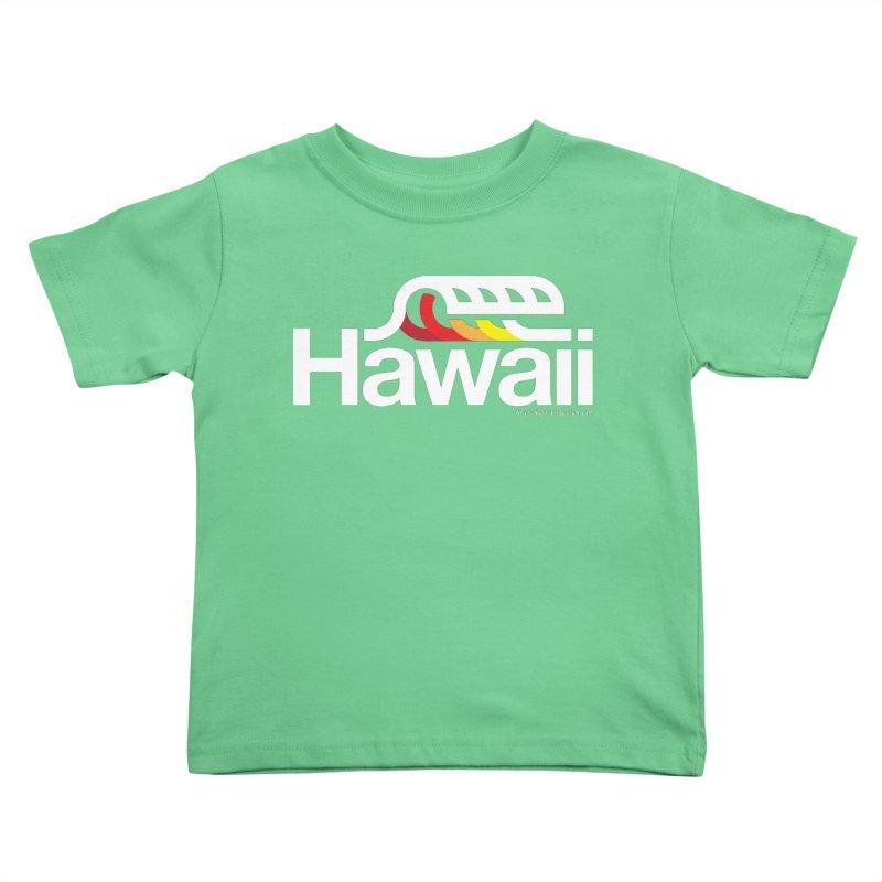 Hawaii Wave Kids Toddler T-Shirt by WalkingStick Design's Artist Shop