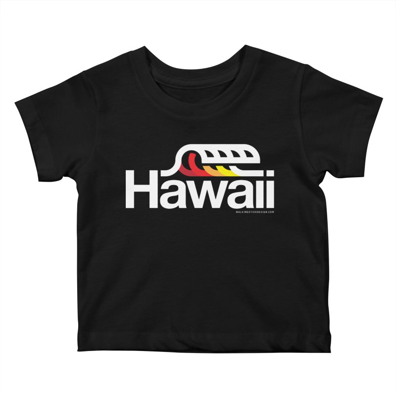 Hawaii Wave Kids Baby T-Shirt by walkingstickdesign's Artist Shop
