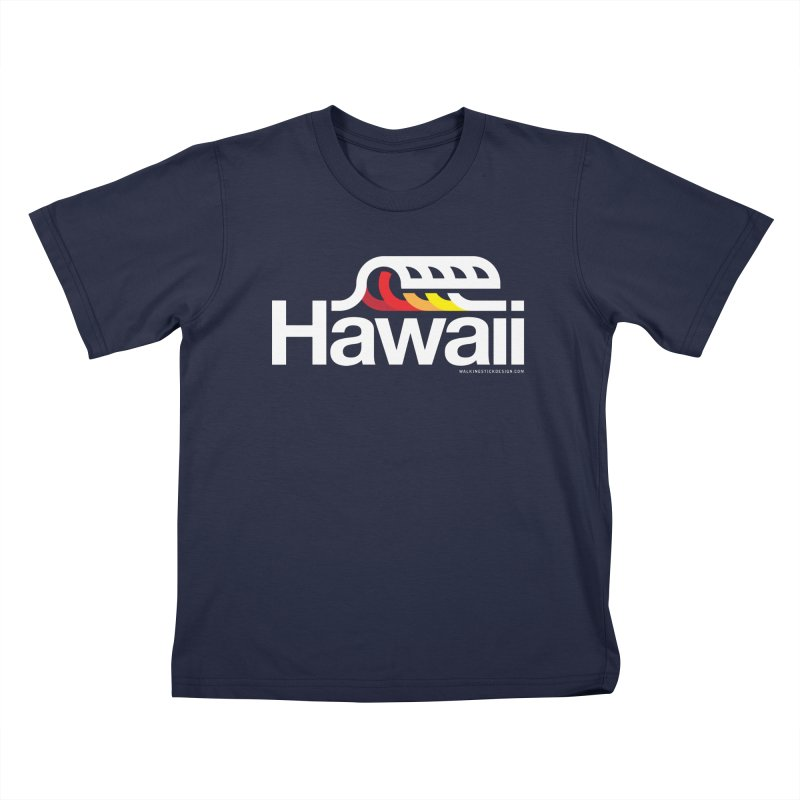 Hawaii Wave Kids T-Shirt by WalkingStick Design's Artist Shop