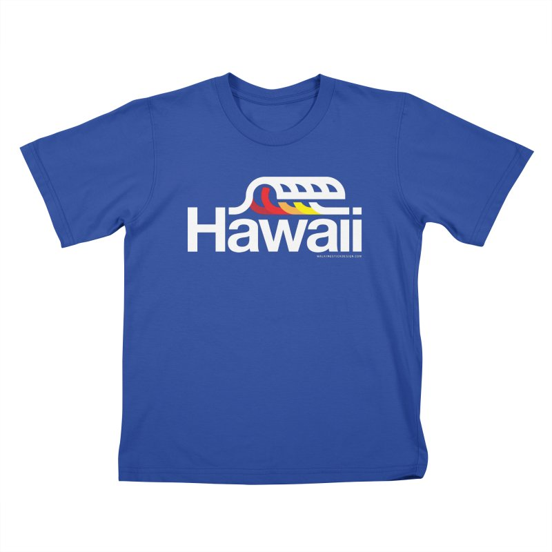 Hawaii Wave Kids T-Shirt by walkingstickdesign's Artist Shop