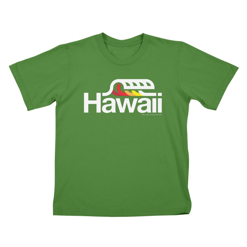 Hawaii Wave Kids T-Shirt by walkingstickdesign's Artist Shop