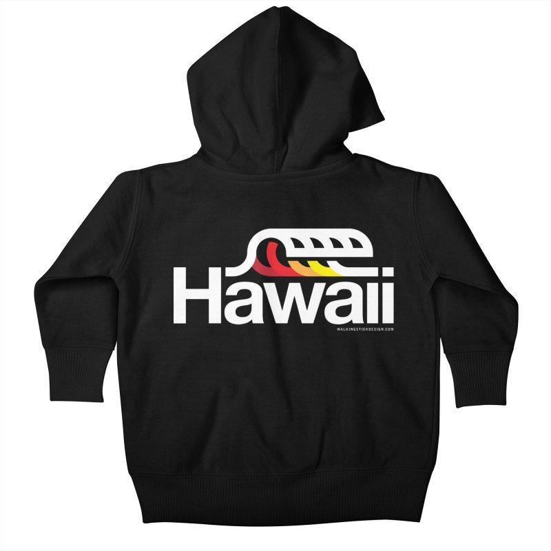 Hawaii Wave Kids Baby Zip-Up Hoody by walkingstickdesign's Artist Shop