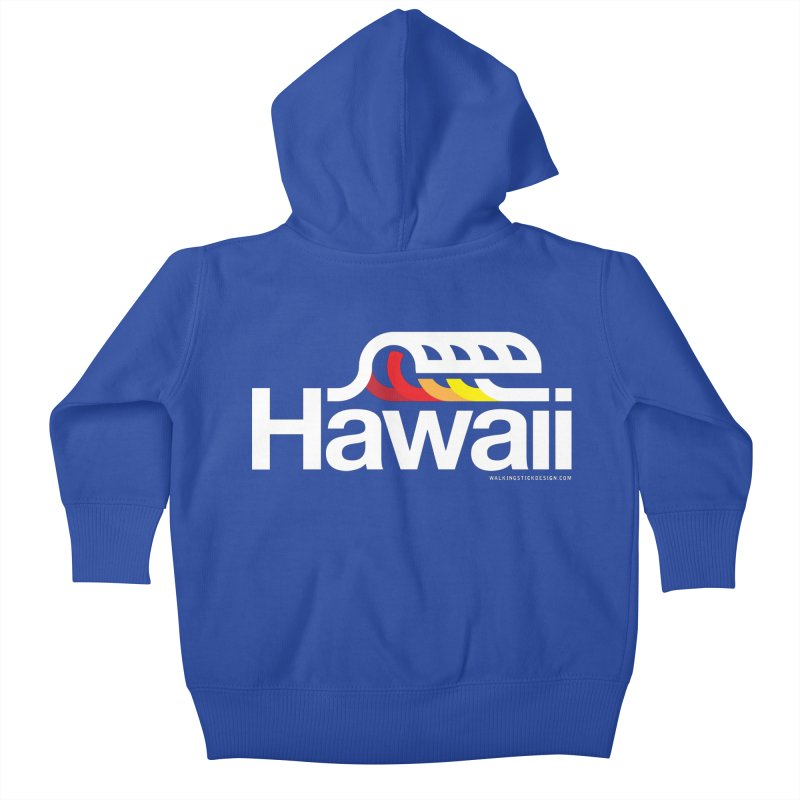 Hawaii Wave Kids Baby Zip-Up Hoody by WalkingStick Design's Artist Shop